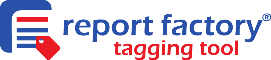 Reportfactory tagging tool logo